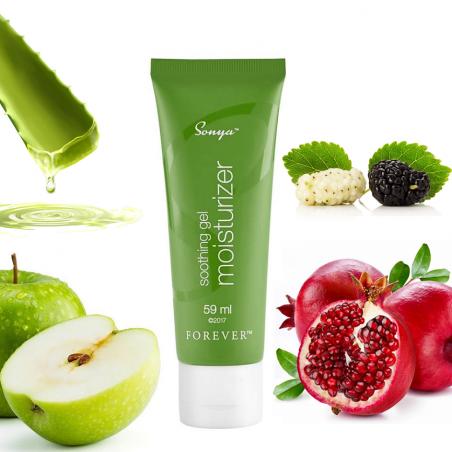 Forever Sonya soothing gel moisturizer™ - głęboko nawilżający i kojący skórę żel aloesowy z aktywnymi substancjami roślinnymi