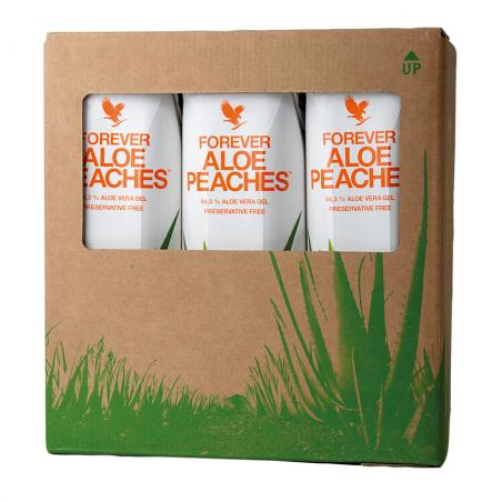 Forever Aloe Vera Peaches™ - TRÓJPAK - miąższ z liści aloesu z sokiem z brzoskwiń wzbogacony w witaminę C