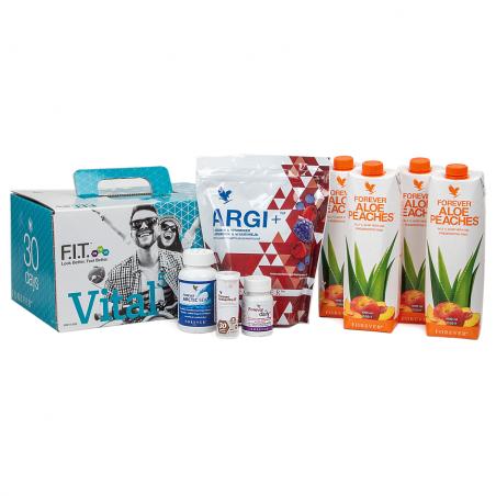 Forever Vital 5 Aloe Vera Peaches™ - 30-dniowy zestaw silnie regenerujący organizm, zawiera Aloe Vera Peaches