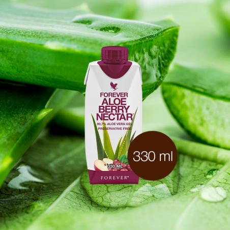 Forever Aloe Vera Berry Nectar™ Mini 330 ml- opakowanie 1 szt. x 330 ml - miąższ z liści aloesu z sokiem z żurawin i witaminą C