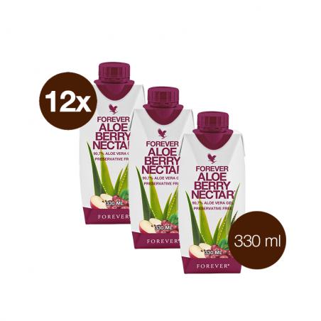 Forever Aloe Vera Berry Nectar™ Mini 330 ml- opakowanie 12 szt. x 330 ml - miąższ z liści aloesu z sokiem z żurawin i witaminą C