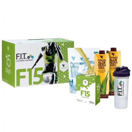 Forever F15 Lite Ultra Vanilla™ - zestaw F15 FIT, 15-dniowy program oczyszczania i odchudzania organizmu z koktajlem waniliowym