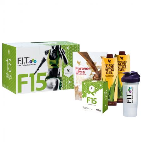 Forever F15 Lite Ultra Chocolate™ - zestaw FIT, 15-dniowy program oczyszczania i odchudzania organizmu z koktajlem czekoladowym