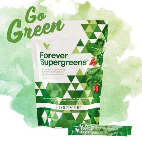 Forever Supergreens™ - mieszanka ponad 20 najlepszej jakości warzyw i owoców z grupy superfood - opakowanie 30 saszetek