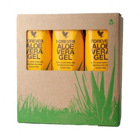 Forever Aloe Vera Gel™ - TRÓJPAK - miąższ z liści aloesu wzbogacony w witaminę C