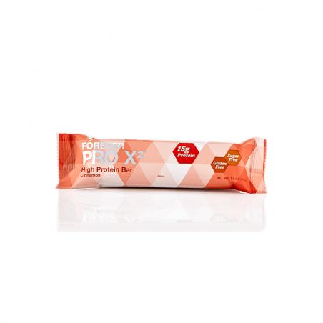 Forever PRO X2 - Cinnamon™ - baton cynamonowy, zawiera izolat białek sojowych - wspomaga odbudowę tkanki mięśniowej - 10 sztuk